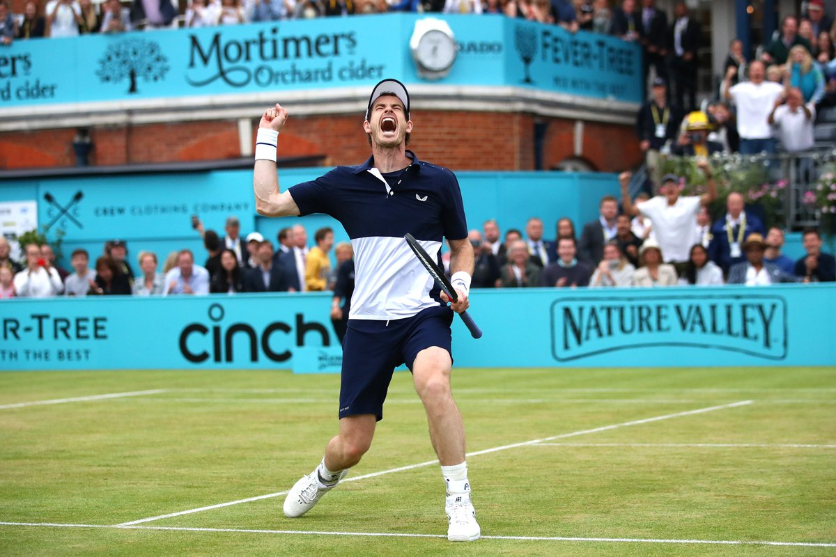 When the Murray Magic returned   @andy_murray | @QueensTennis <br>http://pic.twitter.com/XWeoSZ7Wh7