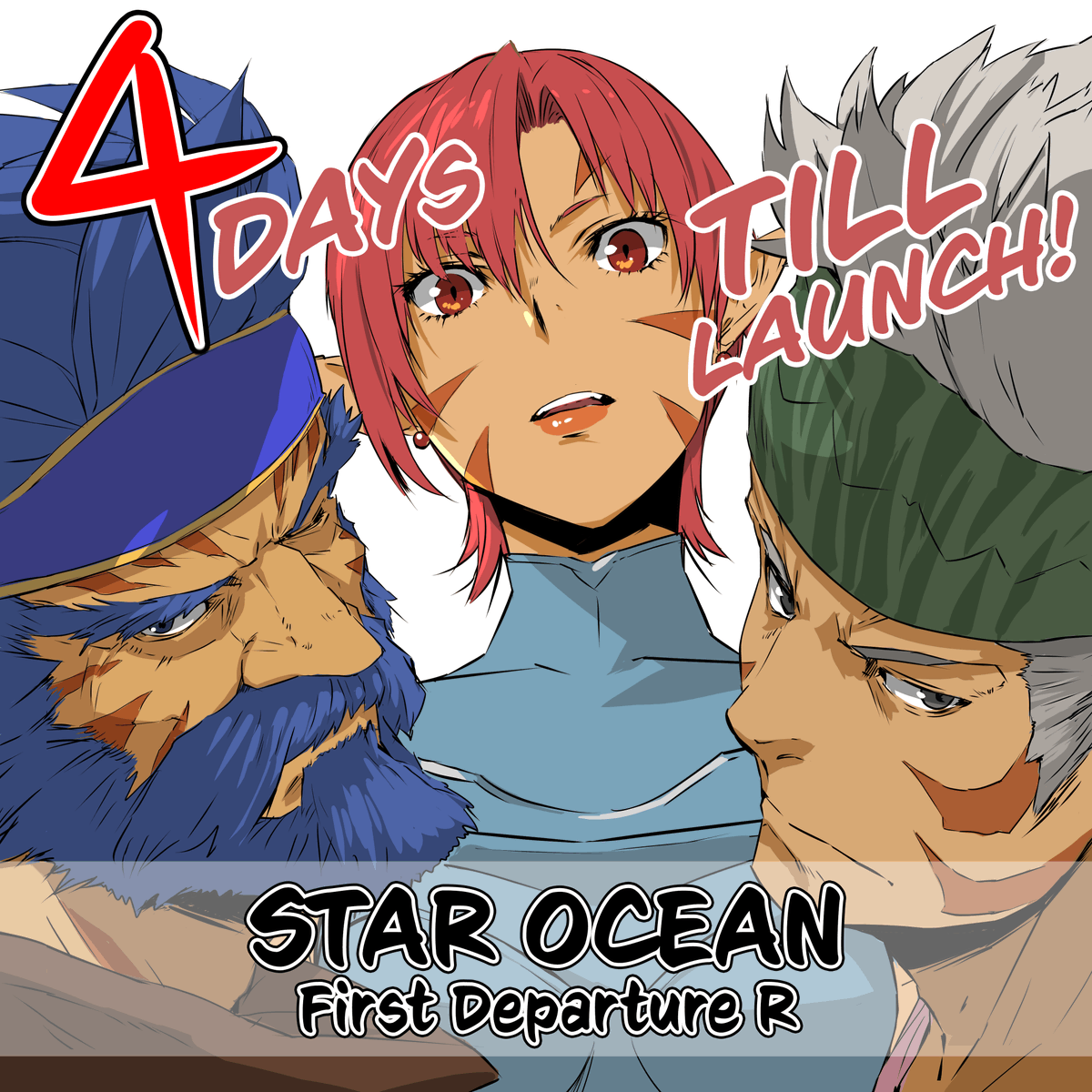 Only 4 days left! STAR OCEAN First Departure R will be digitally available on #PS4 and #NintendoSwitch! Learn more: sqex.link/0iv #StarOcean