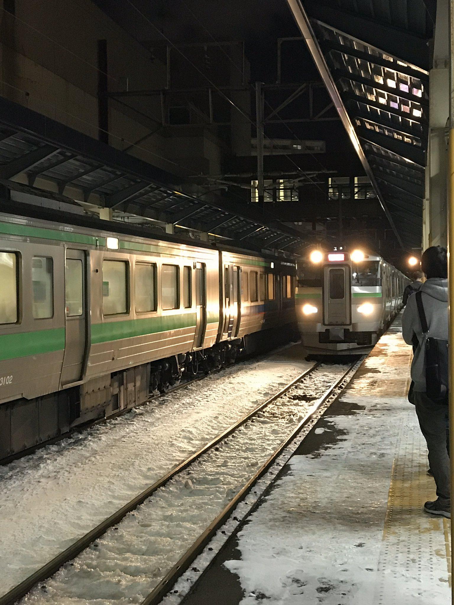 千歳線の新札幌駅で人身事故が起きた現場の画像