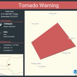 Image for the Tweet beginning: Tornado Warning continues for Maricopa