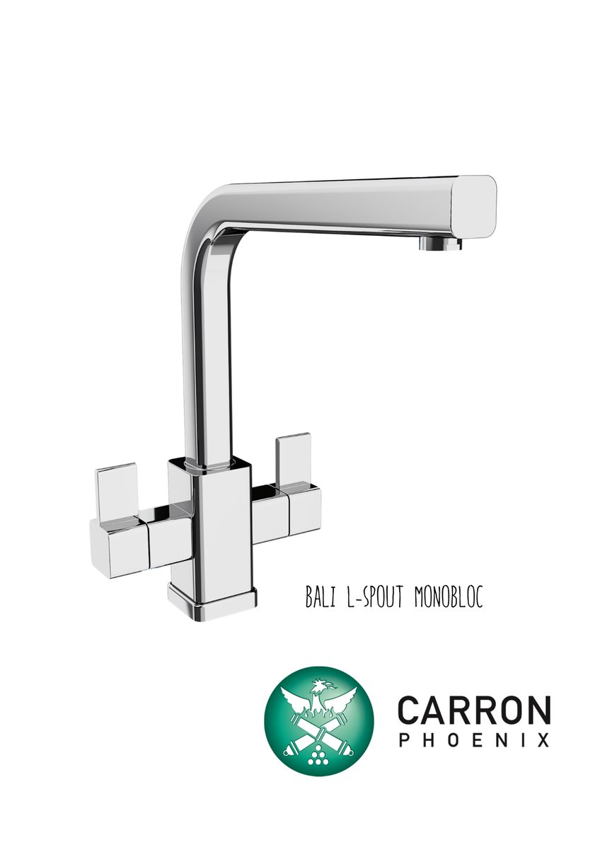 Our stylish Bali L-Spout monobloc #tap features a minimalist, cubic design that's guaranteed to complement any modern kitchen design. Choose from elegant chrome or brushed nickel. ow.ly/IMCr50x3IJh