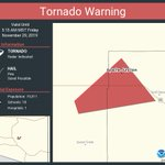 Image for the Tweet beginning: Tornado Warning continues for Apache