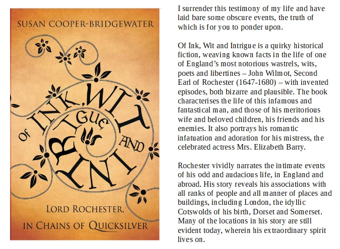 """#HistoricalFiction, including puzzling epilogue, of JOHN WILMOT, the #17thCentury 2nd EARL OF ROCHESTER.   """"The Wildest And Most Fantastical Odd Man Alive""""    https://www. amazon.co.uk/Ink-Wit-Intrig ue-Rochester-Quicksilver-ebook/dp/B00HHZX832/ref=sr_1_cc_1?s=aps&ie=UTF8&qid=1388014159&sr=1-1-catcorr&keywords=of+ink+wit+and+intrigue  …     https://www. amazon.com/Ink-Wit-Intrig ue-Rochester-Quicksilver-ebook/dp/B00HHZX832/ref=sr_1_1?keywords=Of+ink+wit+and+intrigue&qid=1575028079&s=books&sr=1-1  … <br>http://pic.twitter.com/ClASNWBxPH"""