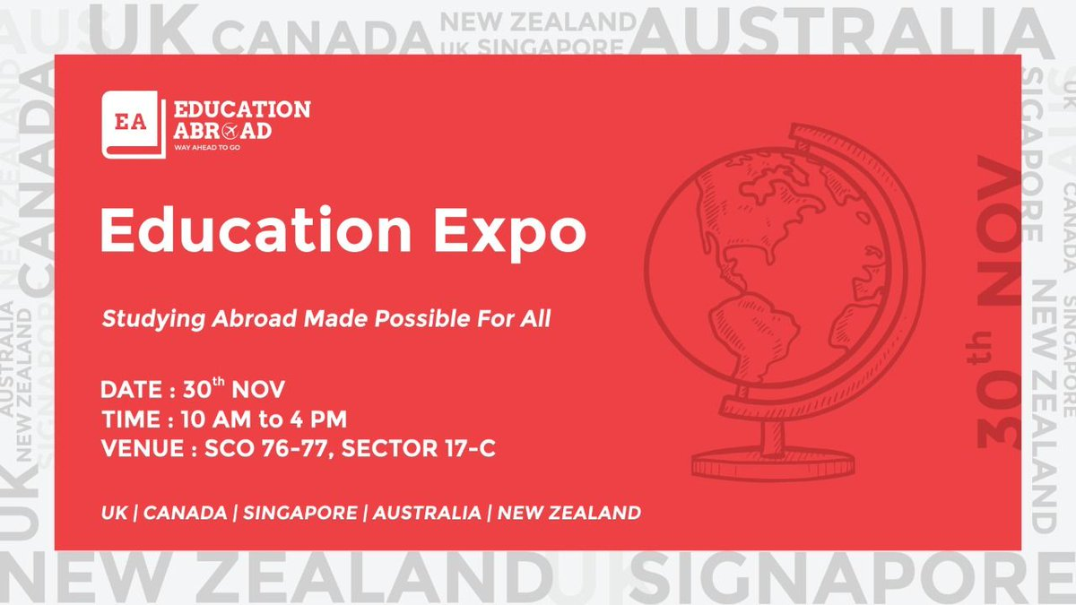 Great chance to grab an opportunity for scholarship!!!  #StudyAbroad #EducationAbroad #WayAheadToGo #StudyInAus #StudyInAustralia #StudyInCanada #StudyInNZ #StudyInNewZealand #StudyInSingapore #StudyInUK #StudyInUnitedKingdom #Scholarship #StudyVisa #IELTS #PTEpic.twitter.com/JQZhuE5tT1