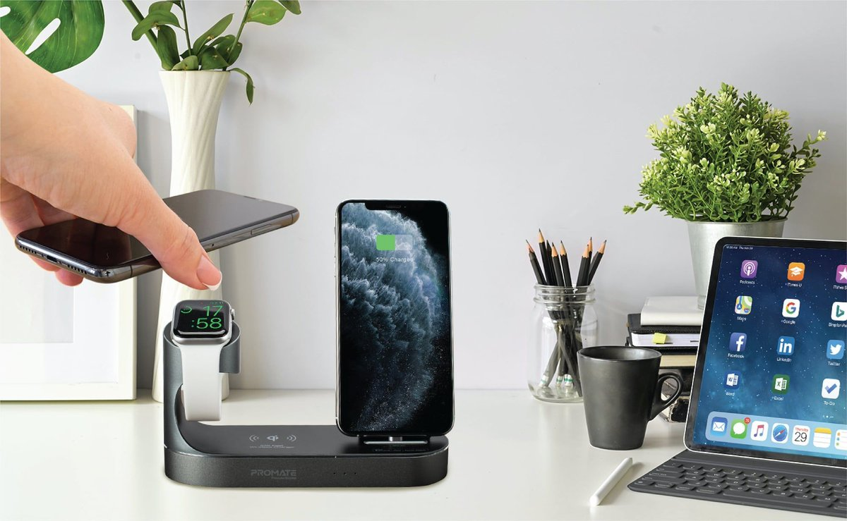 PowerState All-in-One Dock by @Promate https://t.co/pwuI0HtT6F This dock provides 10 watts of wireless power and is compatible with every Qi-enabled device. #gadgets #blackfridaydeals (Use the Coupon code PowerState50 and get $50 OFF) https://t.co/vMcyf4oEUC