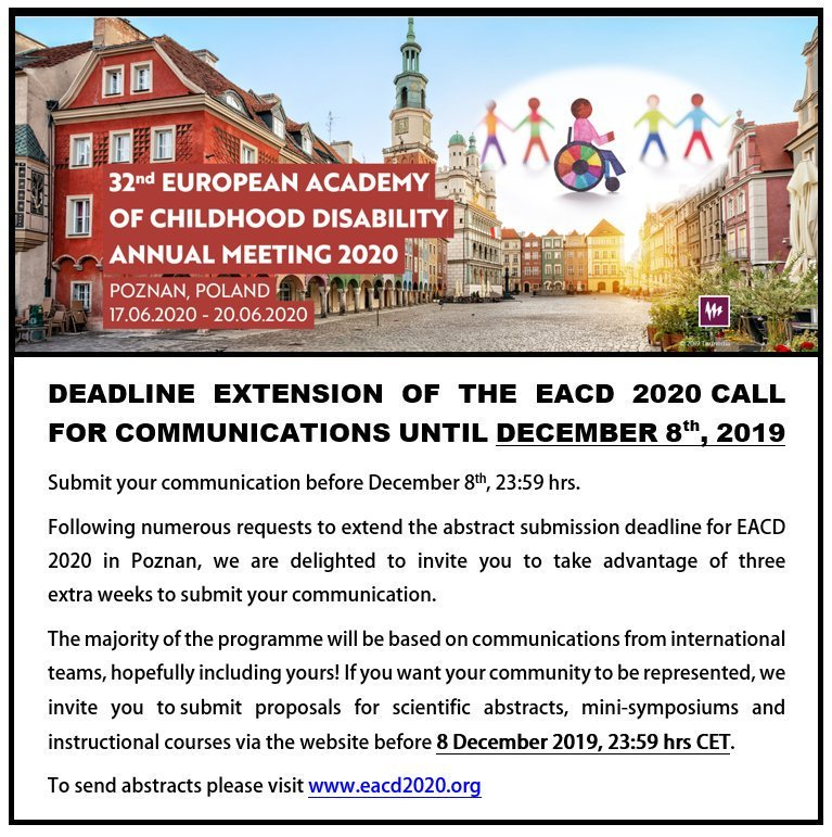 You have one more week to submit an abstract to #EACD2020