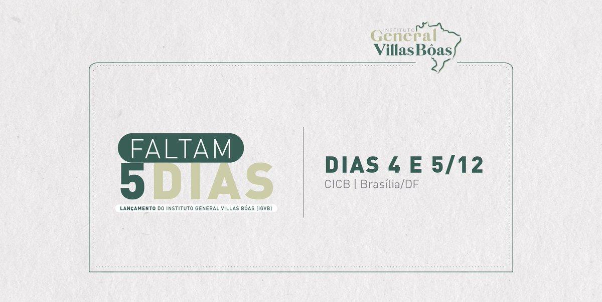 Está chegando! Nos dias 4 e 5 de dezembro, em Brasília/DF, vamos lançar o #InstitutoGVB. Acompanhe a cobertura do evento nas nossas redes. Estamos também no Facebook (InstitutoGVB) e no Instagram (@igvillasboas)! 😃 https://t.co/uNsLIn6B2T
