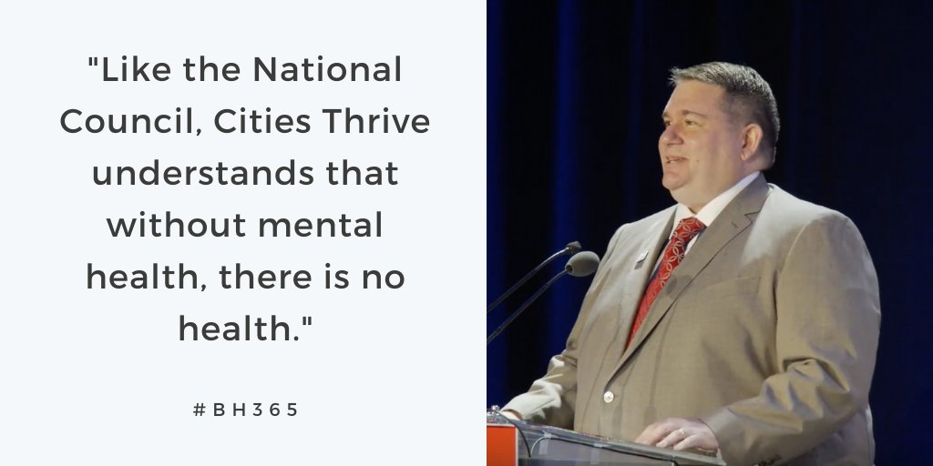 We are facing a #mentalhealth crisis in our country, and #CitiesThrive has developed a visionary plan empowering cities across New York to address this national emergency at the local level. - Chuck Ingoglia, CEO of the National Council: buff.ly/2QvPd2m @NYCFirstLady