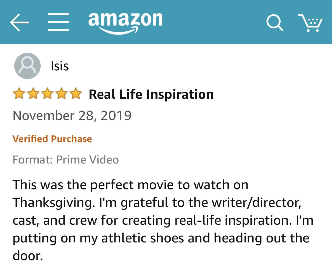Thank you to everyone watching #BrittanyRunsAMarathon this weekend! Love reading reviews like these 🙏