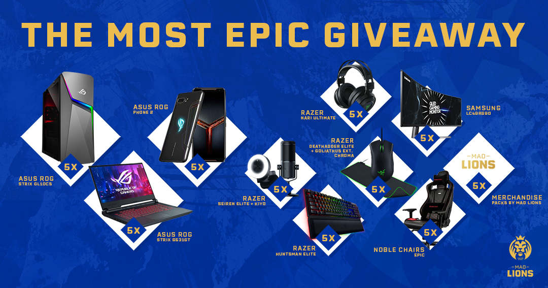 To celebrate MAD Lions joining the #LEC, we're holding an epic giveaway! Enter for your chance to win here: https://gleam.io/4CE6A/2019-december… #goMAD