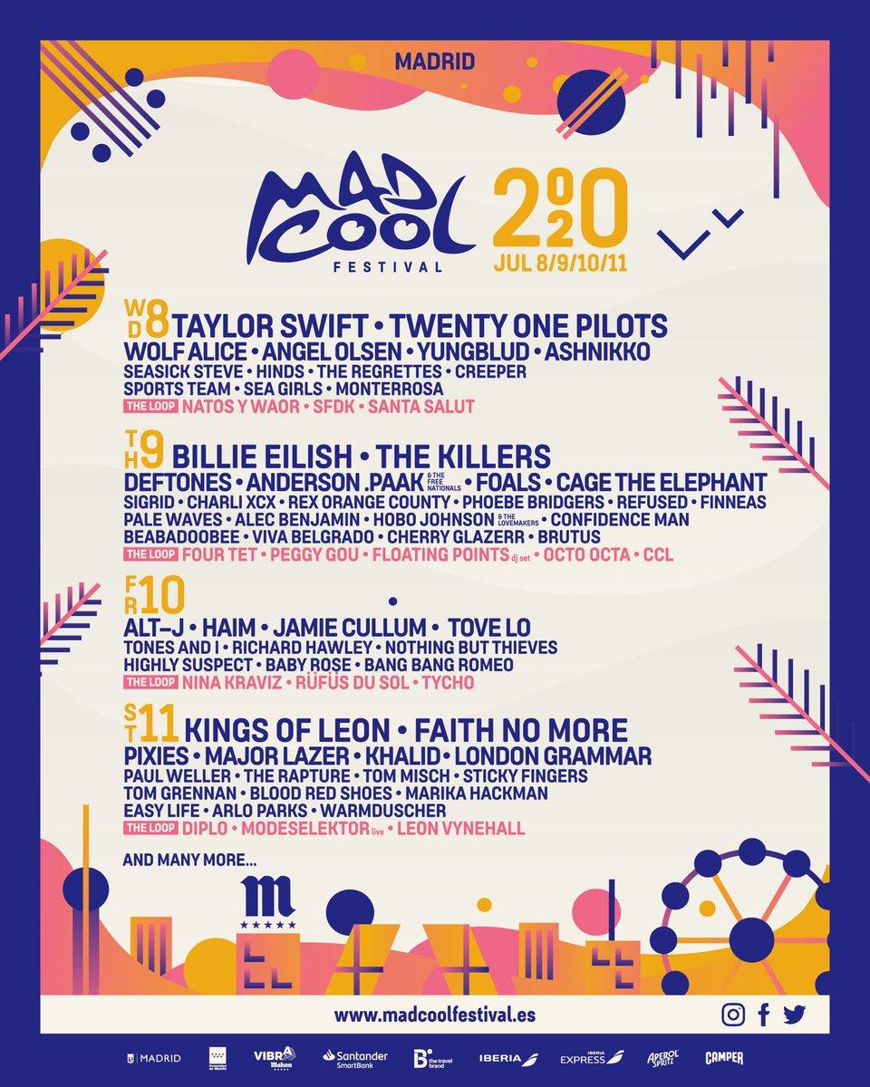 Resultado de imagen para mad cool festival 2020