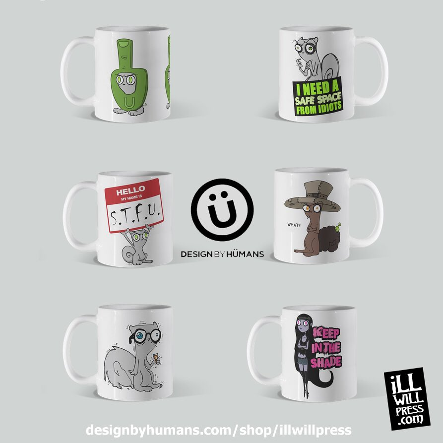 Mug someone for the holidays! (Work in progress sales pitch)#mugs #cartoon #gifts #squirrels