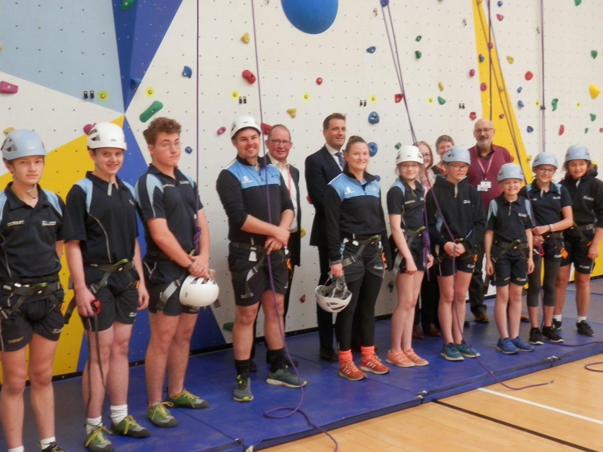 We officially opened our amazing new Climbing Wall today. The wall is big enough to allow 10 students to climb at the same time, and will become a routine part of our PE curriculum and student clubs. Read more on our website here: https://t.co/tQNLs8dzWT