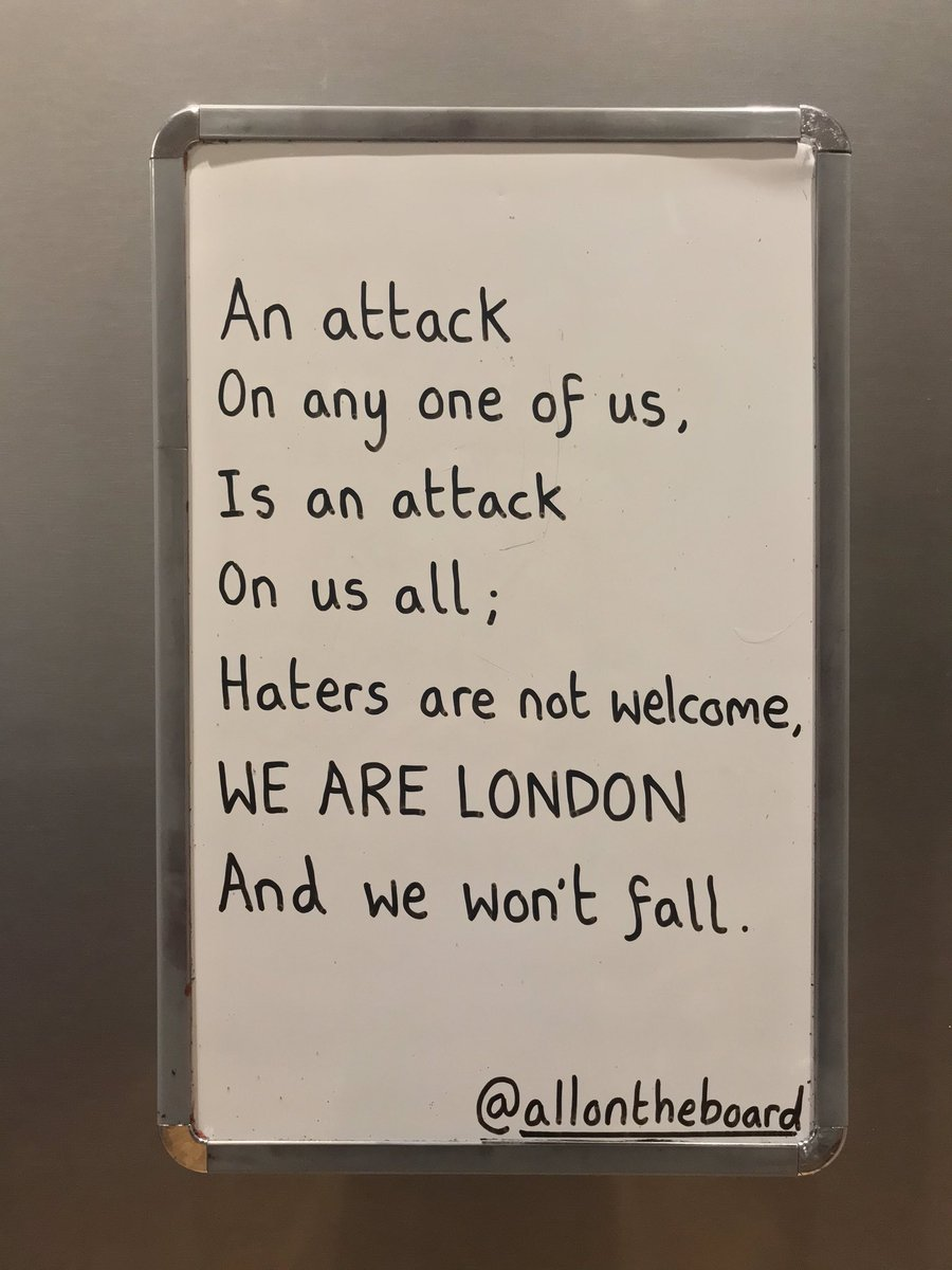 Thinking of everyone injured today. Thanks to the emergency response services for everything they do. Stay safe everyone. @allontheboard #LondonBridge #London