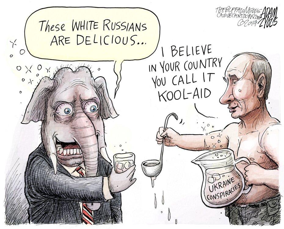 #uspoli #Russia #gop #Putin Kool-Aid by @adamzyglis    #uspolitics #maga