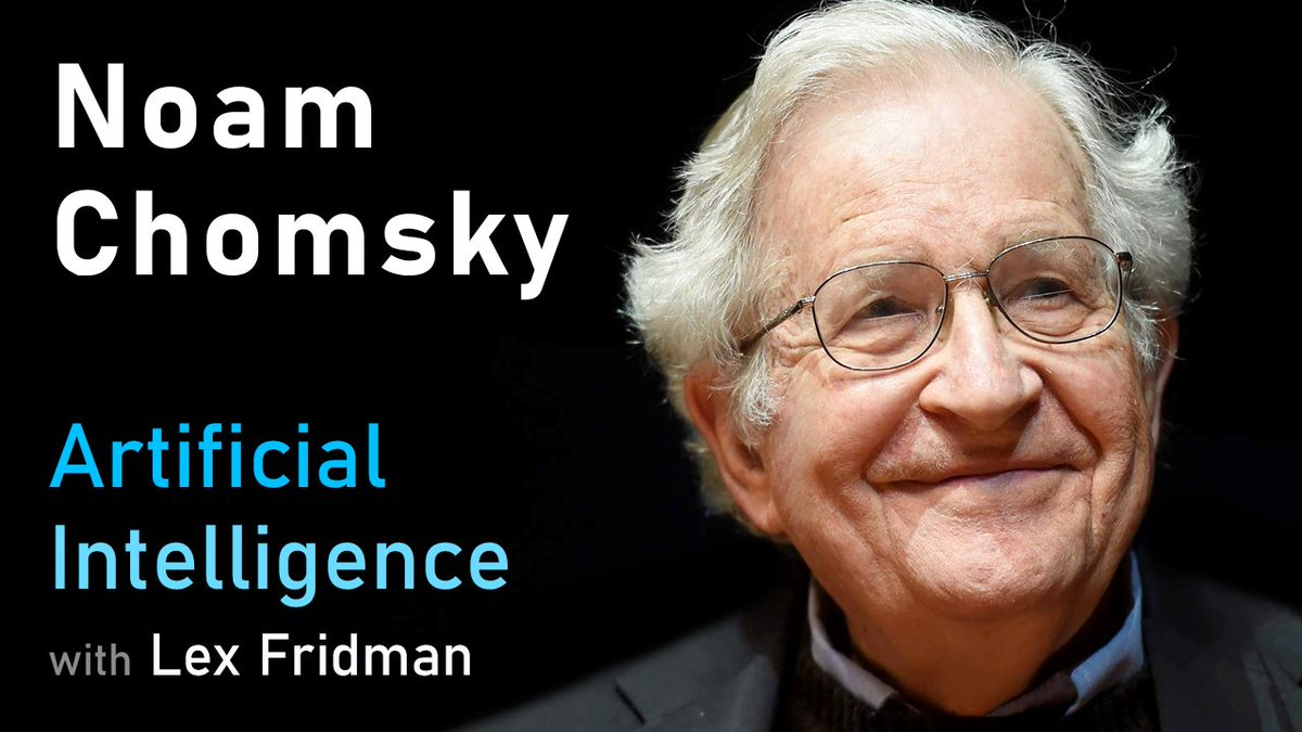 Heres my conversation with Noam Chomsky. He is one of the most influential scholars of language and the human mind in history with 400,000+ citations & 100+ books on linguistics, politics, & war. It was truly a pleasure to talk to him about AI & language: youtube.com/watch?v=cMscNu…