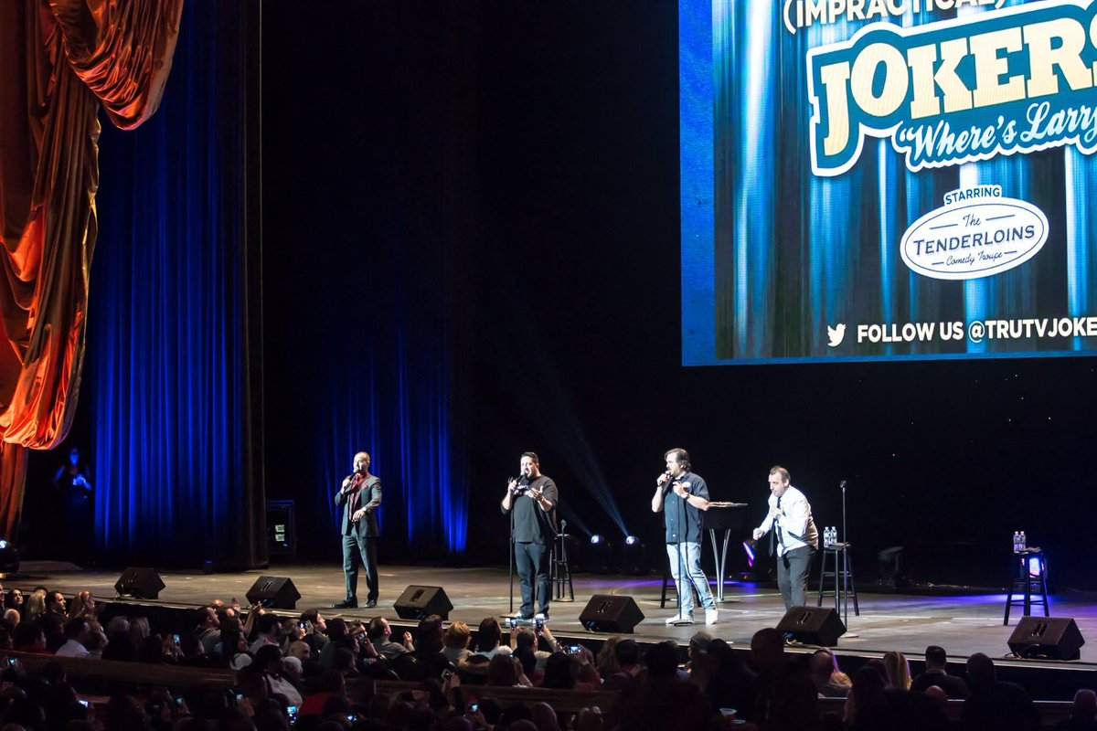 .@truTVjokers return to @RadioCity for three shows this January!Two shows are sold out - get tickets to see them on Saturday, January 18 at 4pm here: http://bit.ly/34bLFXk @thetenderloins @SalVulcano @Joe_Gatto @BQQuinn @jamessmurray 📷: Vladislav Grach