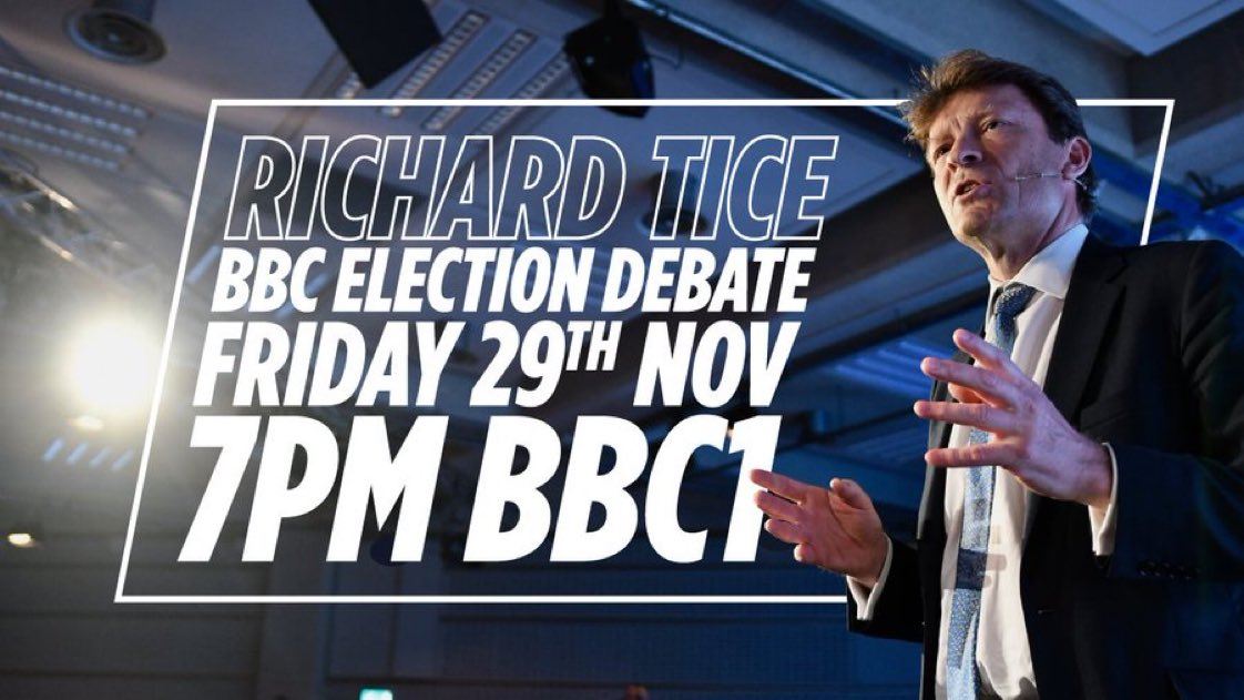 Watch Richard Tice in the BBC Election debate tonight at 7pm.