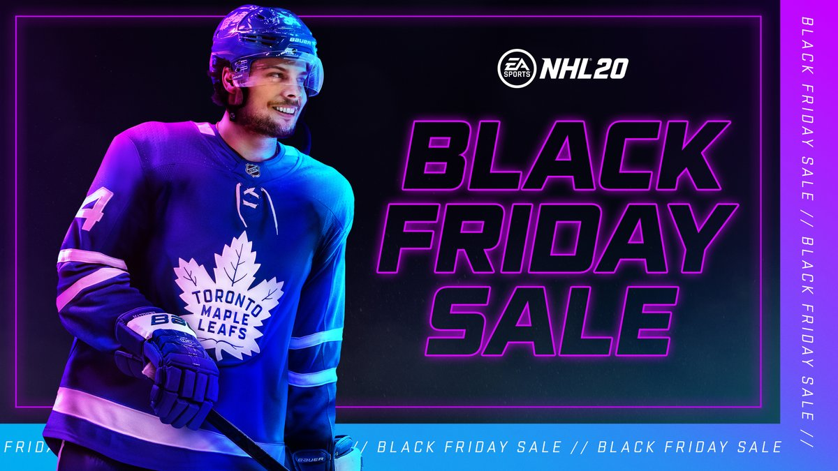Happy Black Friday to all the NHL Gamers out there! 🎮 Save up to 50% on #NHL20 TODAY! x.ea.com/61391