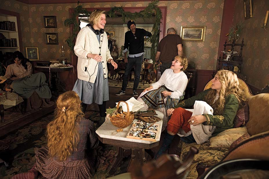 Emma Watson, Eliza Scanlen, Greta Gerwig, Florence Pugh and Saoirse Ronan on the set of #LittleWomen <br>http://pic.twitter.com/Bz2MH7fUOn