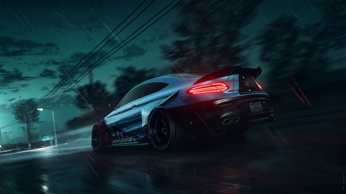 Another K.S. Edition car, the Mercedes-AMG C63 Coupe. I spontaneously shot this image to experiment with some technical details in the post-process. More to come. The game is called @NeedforSpeed Heat, by the way 🔥