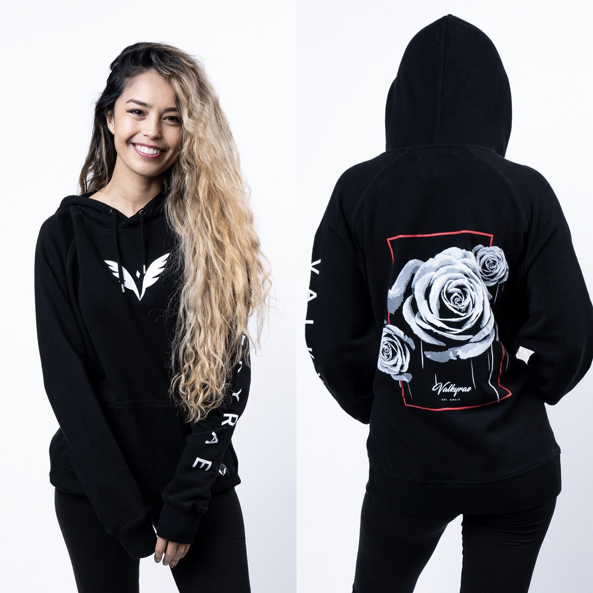 """My Merch is now available for 2 weeks starting right now! First 1,000 orders get a signed sticker pack that I'll be signing live on stream ☺️❤️ All Merch pre-ordered while I'm live will pop up as an alert on stream! 🎉 Mousepad is 17""""x15"""" Check it out: metathreads.com/collections/va…"""