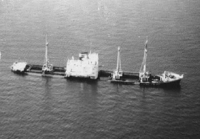 #OTD in 1969: The German freighter Nordmeer ran aground on the Thunder Bay Shoal in Lake Huron. Most of her crew evacuated to a nearby ship but 8 crewmen remained on board to try to save the ship. The weather deteriorated and they called for help. The #USCG rescued all crew.