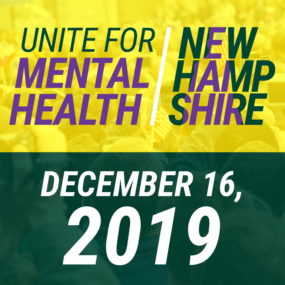 Mark your calendars 🗓️ The #mentalhealth and #addiction community is coming together in New Hampshire for the Unite for Mental Health Town Hall on December 16. Join us as we demand #MentalHealthforUS! buff.ly/2qRgSjr