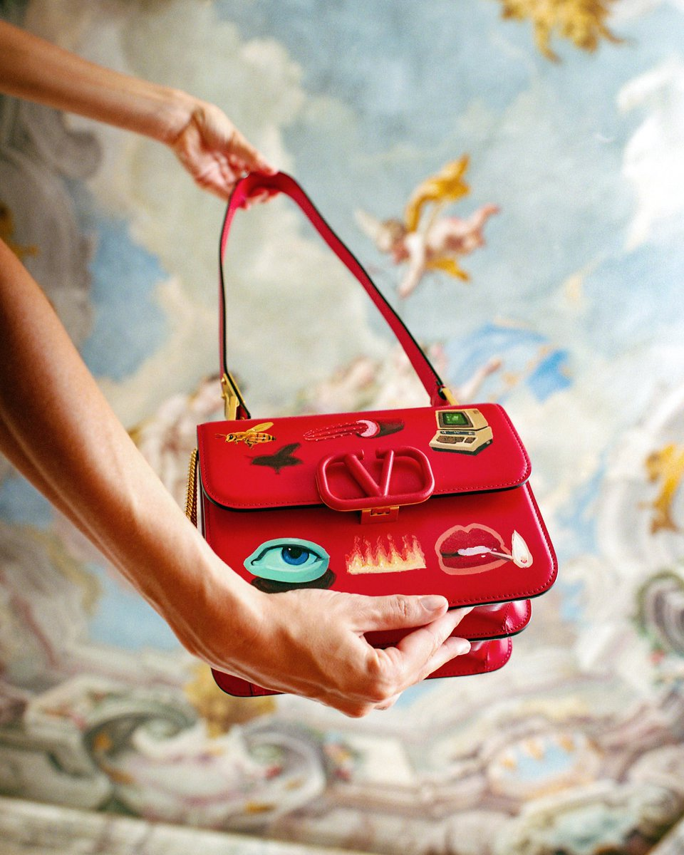 The world of artist #EmilioVillalba collides with the aesthetic of the Maison on hand-painted, one-of-a-kind Valentino Garavani #VSLING bags. Each bag comes with a signed and numbered lithograph by the artist, and can now be preordered at Miami's Design District Boutique.