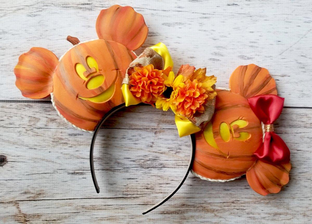 Halloween Mouse Ears,Jack O Lantern Ears,Mickey headband,Minnie Mouse Ears,Pumpkin Minnie Ears,Mickey Ears,Custom Ears,Fall Minnie Ears  #disneyears #toystoryears