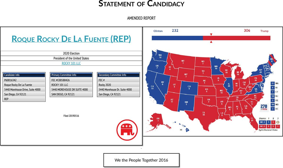 Rob Pyers On Twitter Huh It Appears We Now Have Perennial Candidate Roque Rocky De La Fuente Running In The Republican Presidential Primary And His Son Roque De La Fuente Iii Rd3