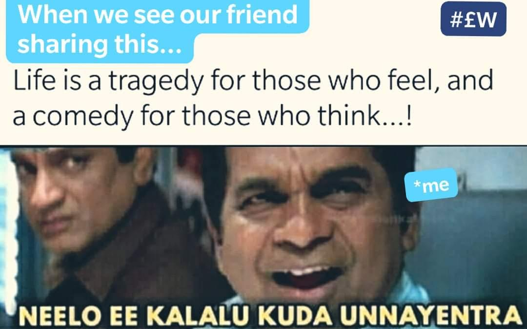 #crazymemes  Who all get connected to this, whenever your friend shares such quotes #Lyricalwoods #quotes #autopunches #friendship #feeling #happyfriends #classicquotes #telugumemes #meme #dailymemespic.twitter.com/b0Ucs6uo4N