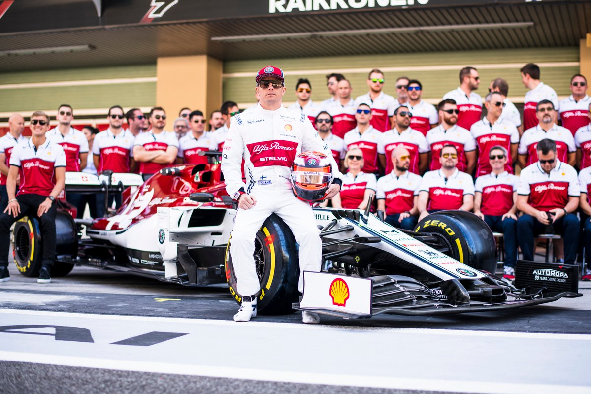 A lot of hard working and skilled people in this picture. And above all good human beings that I've had the pleasure of working with for many years. Keep pushing guys @alfaromeoracing #F1