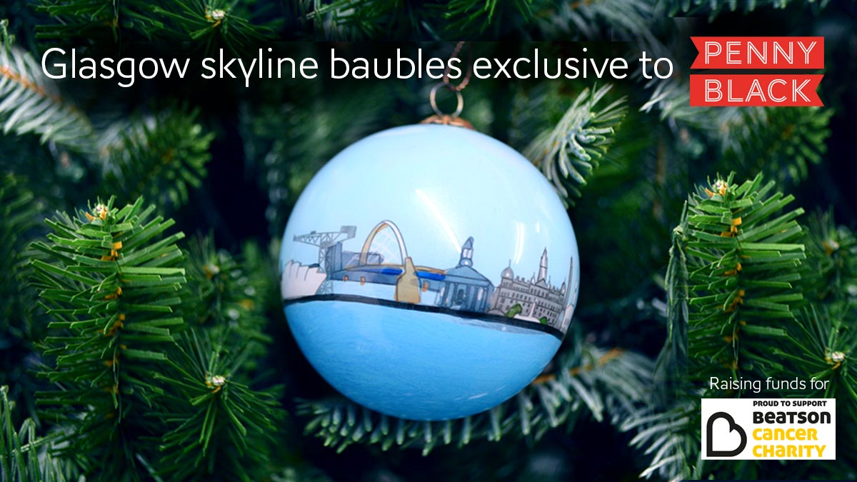 Want to help raise money for @Beatson_Charity whilst you're decking the halls for Christmas? For every one of our exclusive Glasgow skyline baubles we sell, 10% of the proceeds will be donated to this excellent cause. Grab yours here whilst stocks last!