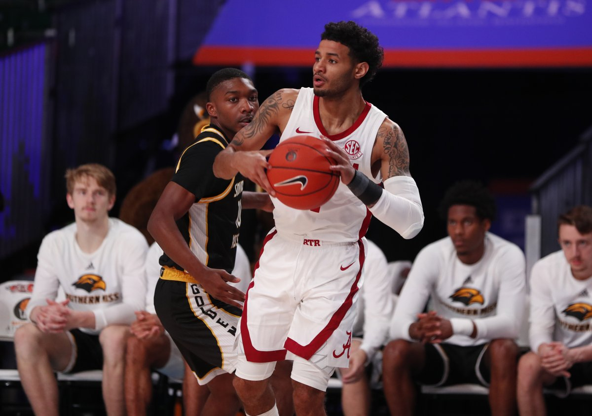 Beetle Bolden's 23 Points Help Lift Alabama to a Convincing 83-68 Win Over Southern Miss to Close Out Battle 4 Atlantis 📰: bit.ly/2R5XFpE #RollTide