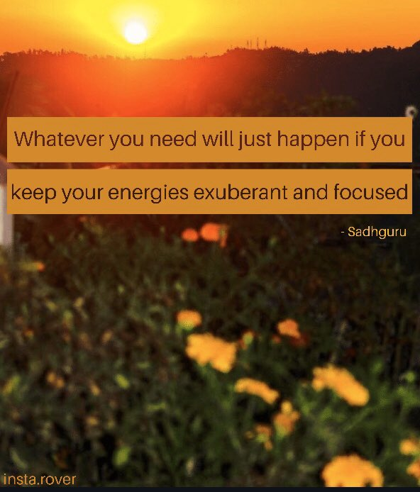 Focus in one direction and see the magic of universe  #SaturdayThoughts #SaturdayVibes #SaturdayMorning #SaturdayMorning  #sadhguru #quotes #quotess #life #lifequotes #quotesdaily #ishafoundation #meditation #meditate #meditatedaily #meditations #truth #motivationquotes