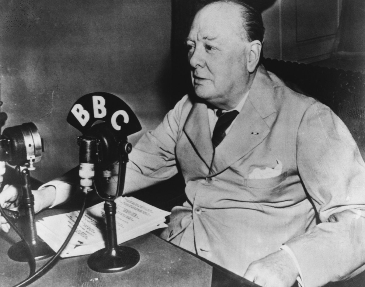 """""""I have nothing to offer but blood, toil, tears and sweat."""" Winston Churchill, born #OTD in 1874, delivered this line in his first speech as UK Prime Minister in the House of Commons. Known for his rousing speeches, in 1953 he was awarded the Nobel Prize in Literature."""
