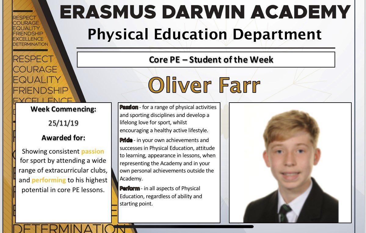 Congratulations Oliver #EDAvalues