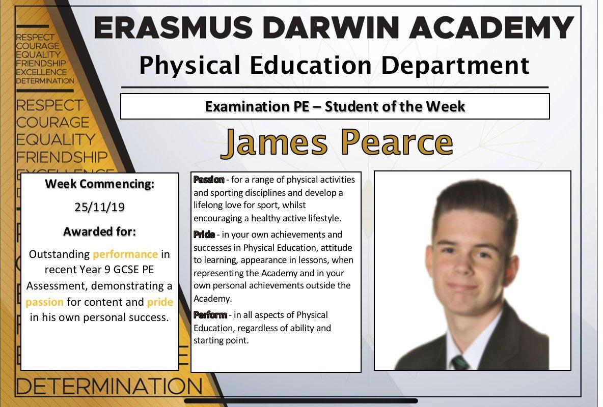Congratulations James #EDAvalues