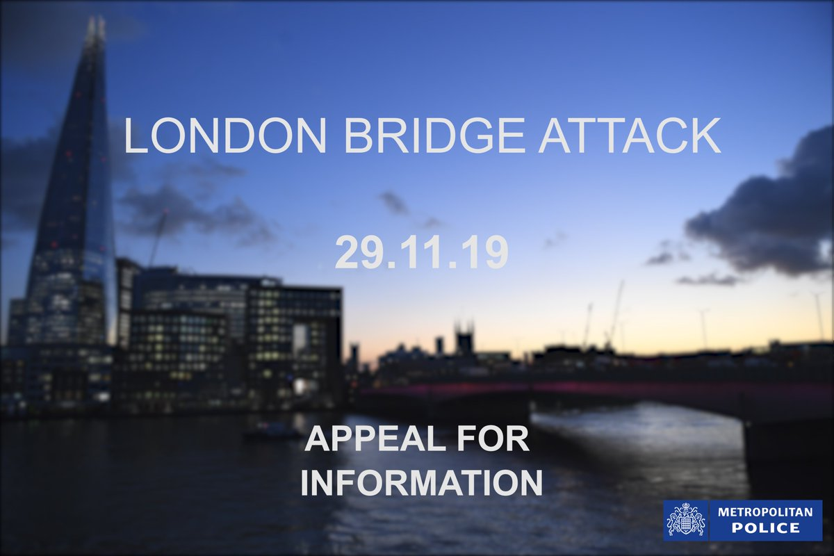 #APPEAL | Detectives investigating the attack near #LondonBridge are appealing for anyone with any information to come forward. In particular, officers would like to speak to anyone who was at Fishmongers' Hall yesterday. 📞 0800 789 321 in confidence if you have any info.