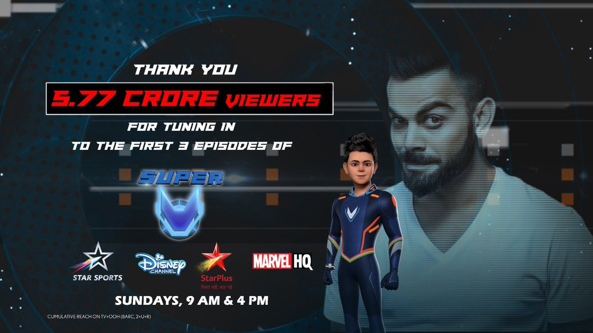 A big thank you for the amazing response to @TheSuperV ❤️ Well this is just the start, there is a lot more in store for you in episode 5 this Sunday on @StarSportsIndia @StarPlus @DisneyIndia @hotstartweets @bawejamovies @Cornerstone_CSE 😉