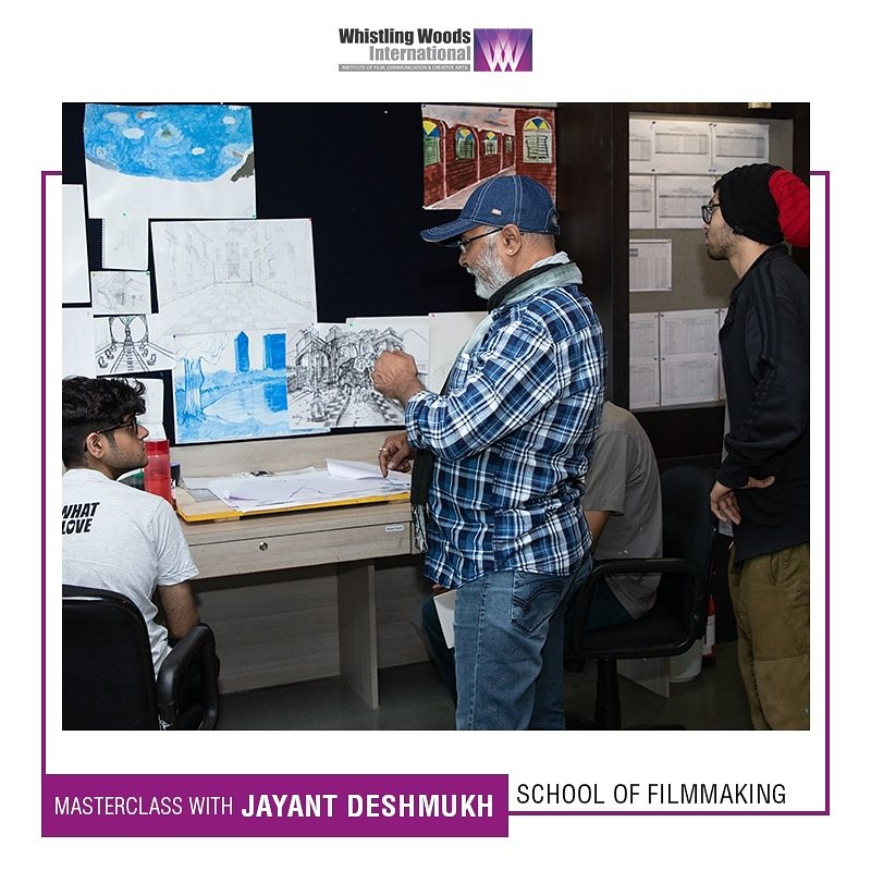 A #WWIMasterclass with Jayant Deshmukh - Production Designer, was conducted for the students of WWI School of Filmmaking. He explained how to combine the script and directors vision to produce an impactful visual story. #DoWhatYouLove