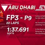 [INFO] 🇪🇸 Carlos Sainz, noveno en los Libres 3 del GP de Abu Dabi 👉 https://t.co/45ggBJ03T2  🇬🇧 Carlos Sainz, ninth in Free Practice 3 for the Abu Dhabi GP 👉 https://t.co/Cj3DxvIEC7  #carlossainz #AbuDhabiGP 🇦🇪 #F1 #FP3