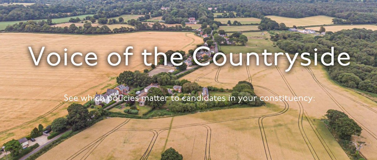 Countryside Alliance have developed a handy little tool to help you find out which policies matter to your local candidates ahead of the 2019 General Election. ow.ly/o3SS50xnFbe