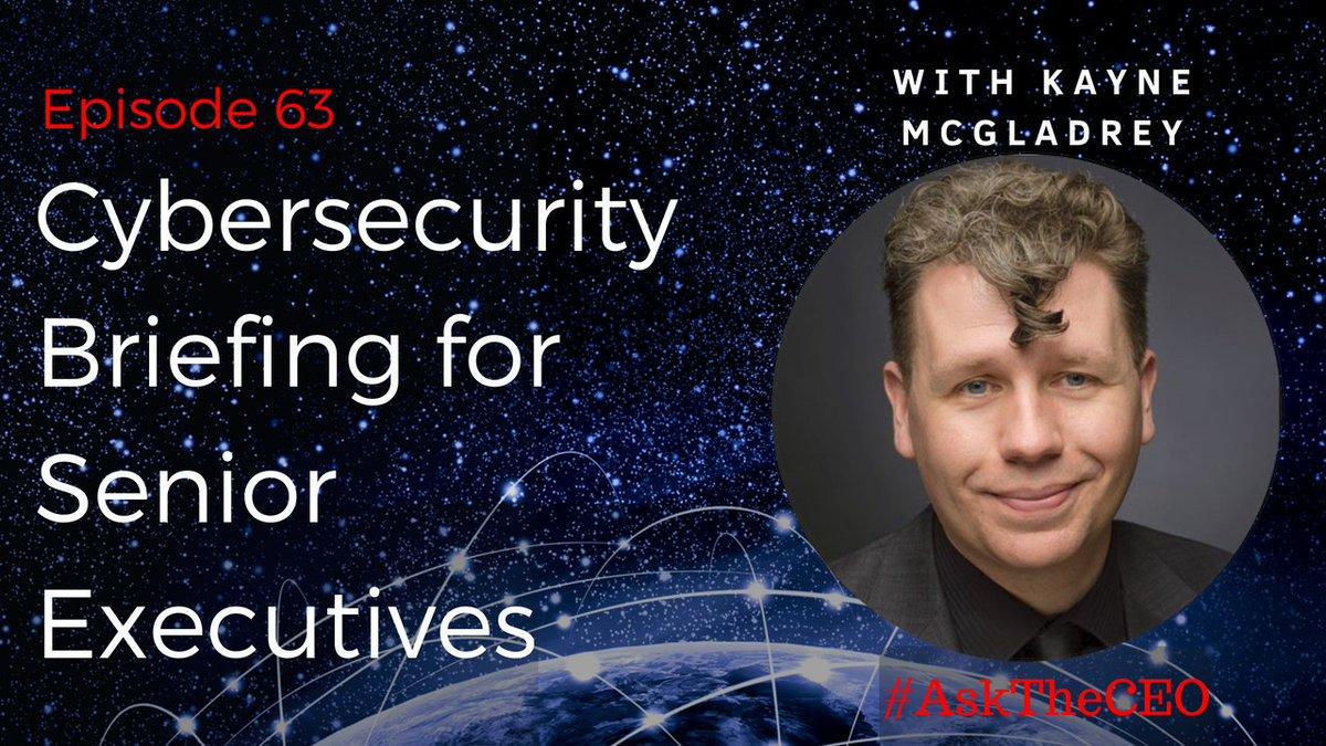 Why is diversity and #WomenInTech so important for #Cybersecurity? Watch #AskTheCEO with @kaynemcgladrey timestamp 3:30 #IoTSecurity #WomenInCyber youtu.be/Lc1RShLT984 @TylerCohenWood @7GTech @rvp @DrJDrooghaag @NevilleGaunt @cybersecboardrm @mirko_ross @Shirastweet @AkwyZ