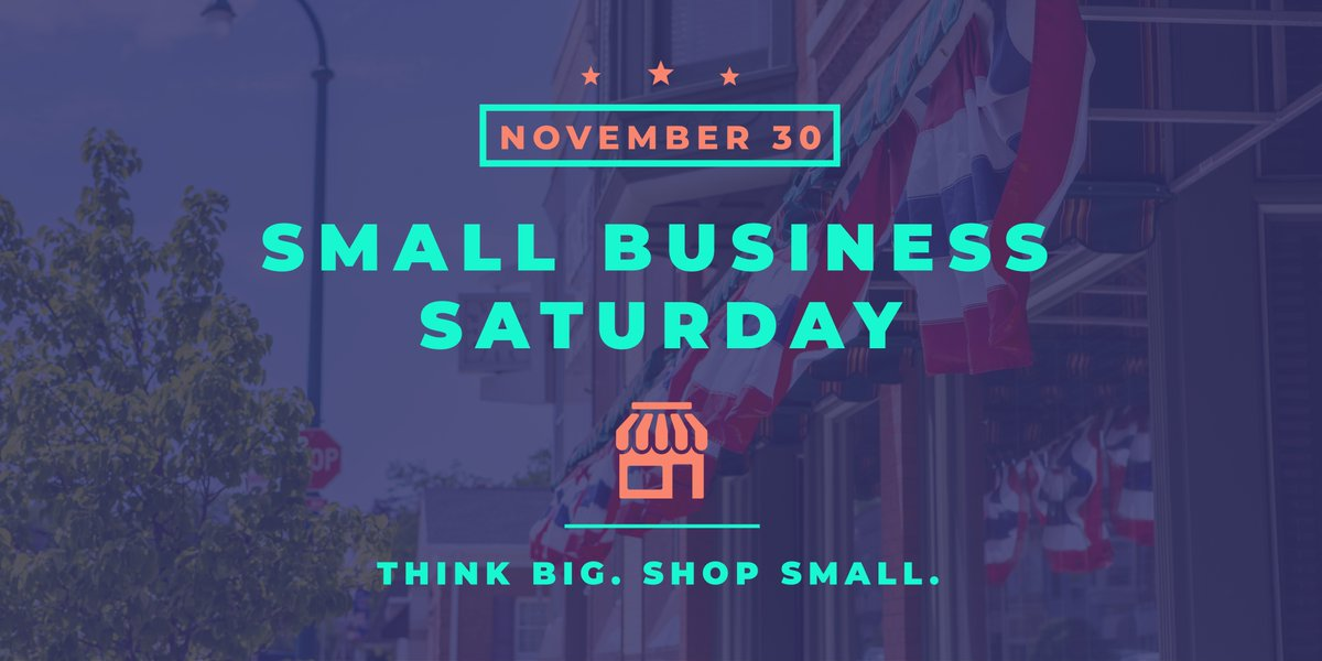 Today is #SmallBusinessSaturday—a day to celebrate and support small businesses across the nation and all they do for our communities. Think BIG. Shop small!