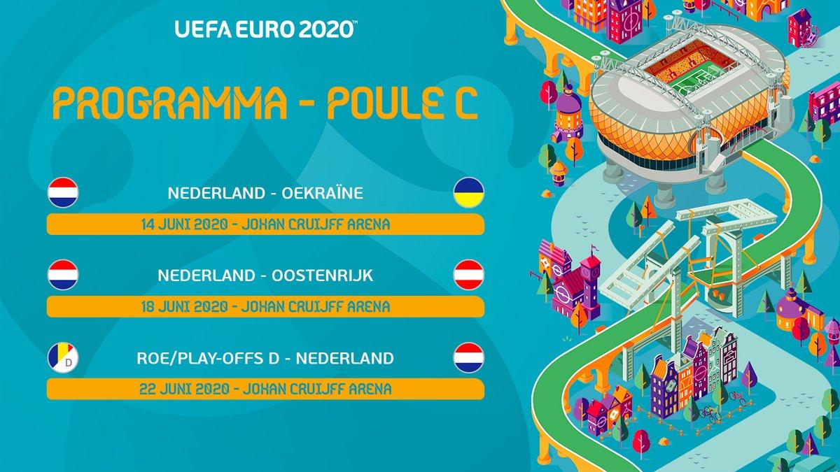 Nederland treft Oostenrijk en Oekraïne tijdens groepsfase ...