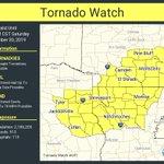Image for the Tweet beginning: A tornado watch has been