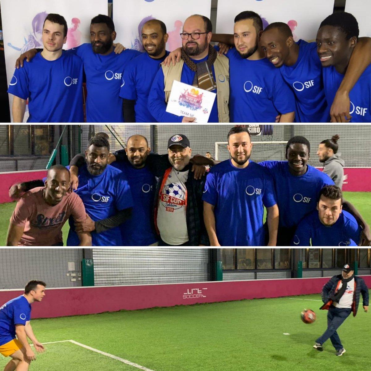 Au top notre Team @SIF_ONG ! 😀 Rendez-vous sur nos stories Facebook et Instagram pour voir du beau jeu, de la solidarité et de la convivialité ! 🔴🔵⚽ #SIFCUPPARIS ⚽🔵🔴 https://t.co/zr6efsCjTu