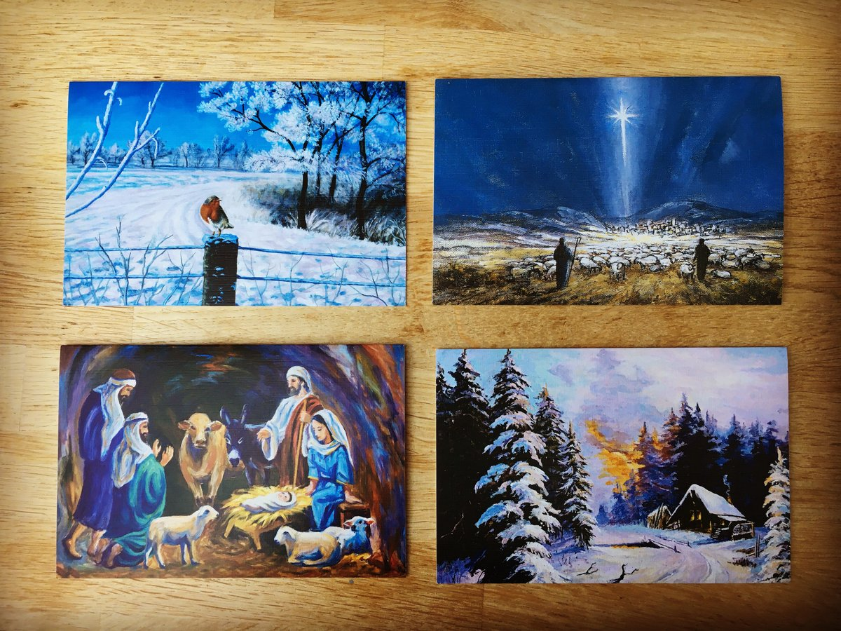 Eric Karl Anderson On Twitter This Year I M Sending Out Some Really Beautiful Xmas Cards Created By Mouth And Foot Painting Artists It S Incredible What They Do And You Can See More